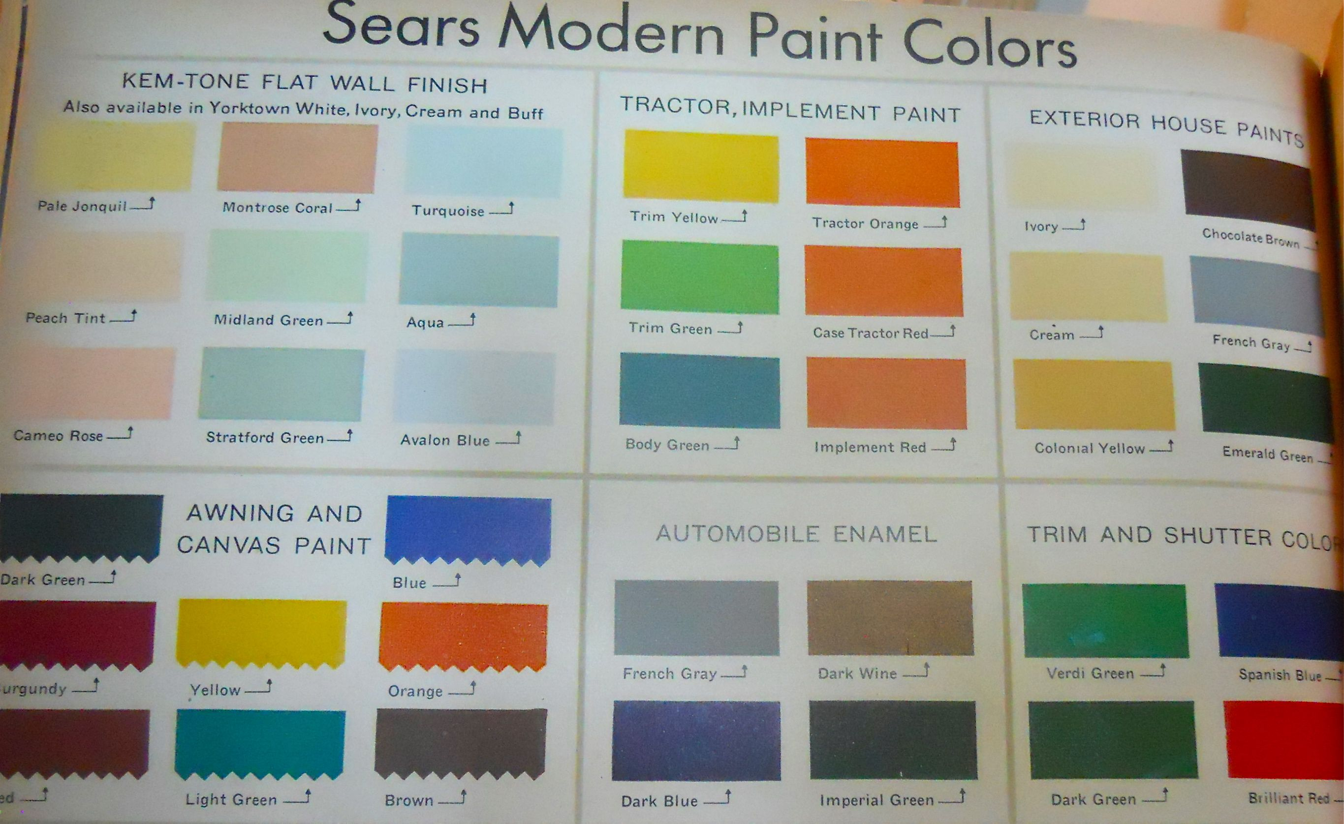 28 Sears Paint Color Chart