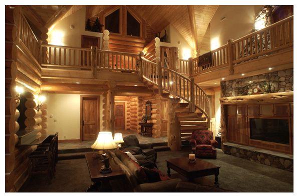 Cabin interior hunting cabin decor ideas pinterest for Hunting cabin decorating ideas