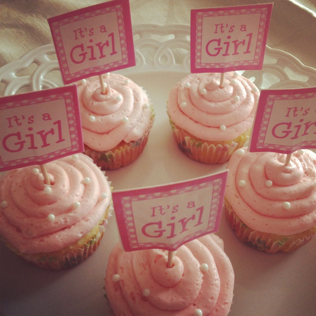 Baby girl shower cupcakes shower ideas pinterest - Girl baby shower cupcake ideas ...