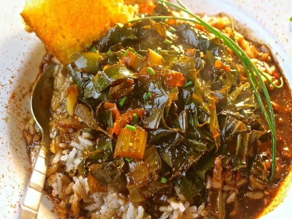 Collard Greens Gumbo | Recipes to try | Pinterest