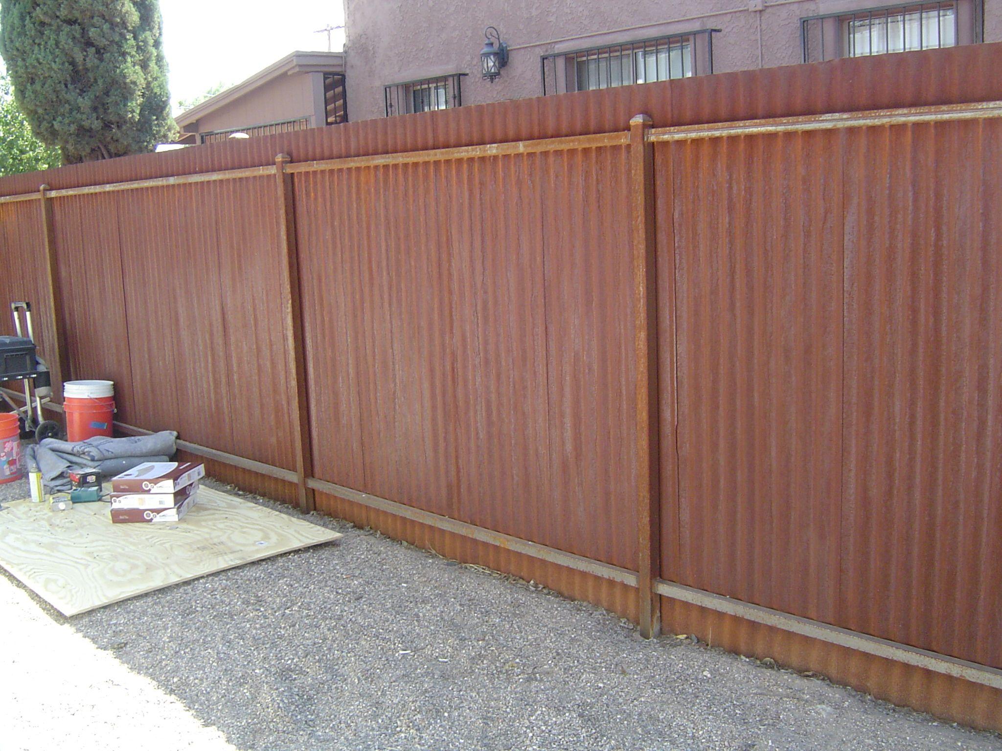 Corrugated Steel Fence Custom Metal Fencing Pinterest