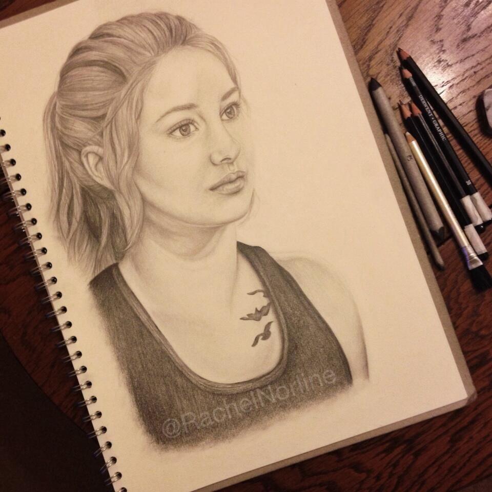Tris fan art ergent fan art pinterest
