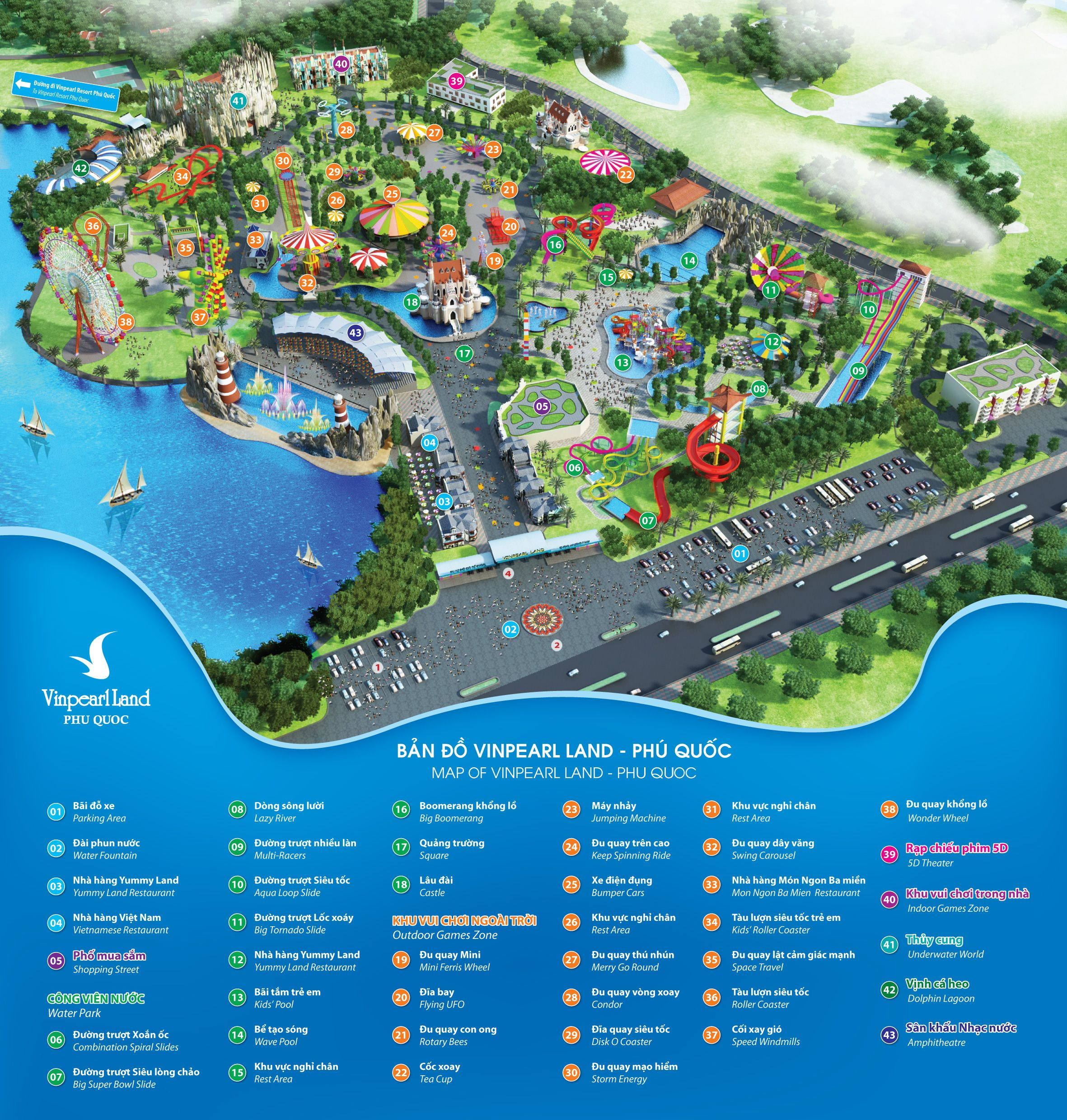 ... Vinpearl Land, courtesy of Vinpearl Resort. You can view the full map