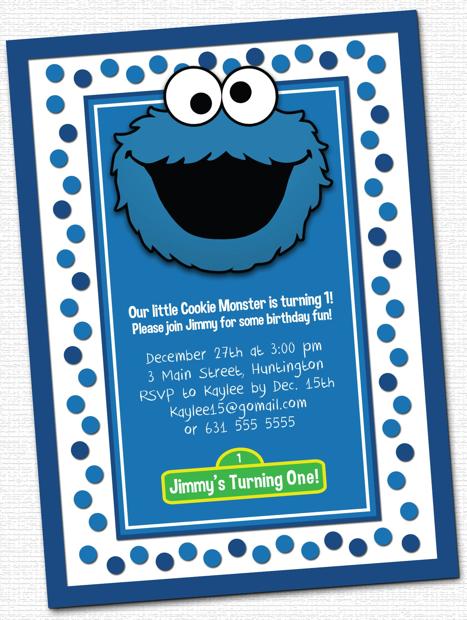 Cookie Monster Birthday Invitations is an amazing ideas you had to choose for invitation design