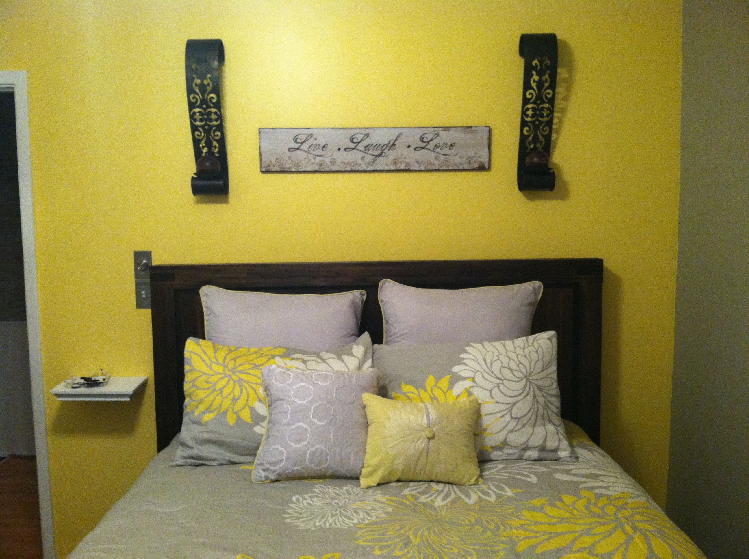 Yellow And Gray Bedroom Home Ideas Pinterest