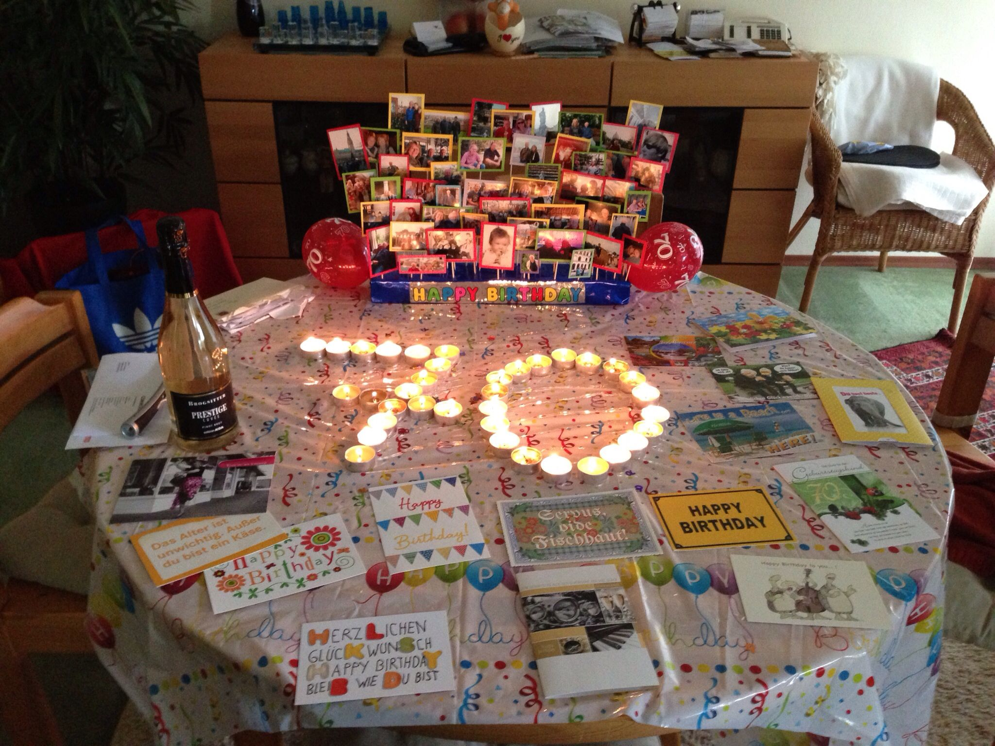 70th birthday decoration parties pinterest