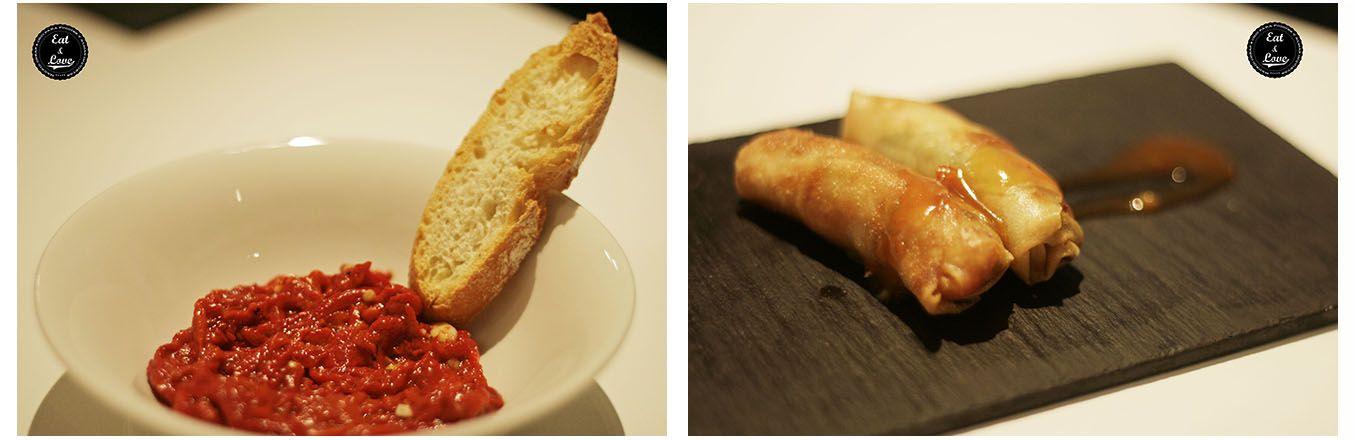 Entrantes menú Myveg restaurante verduras Madrid