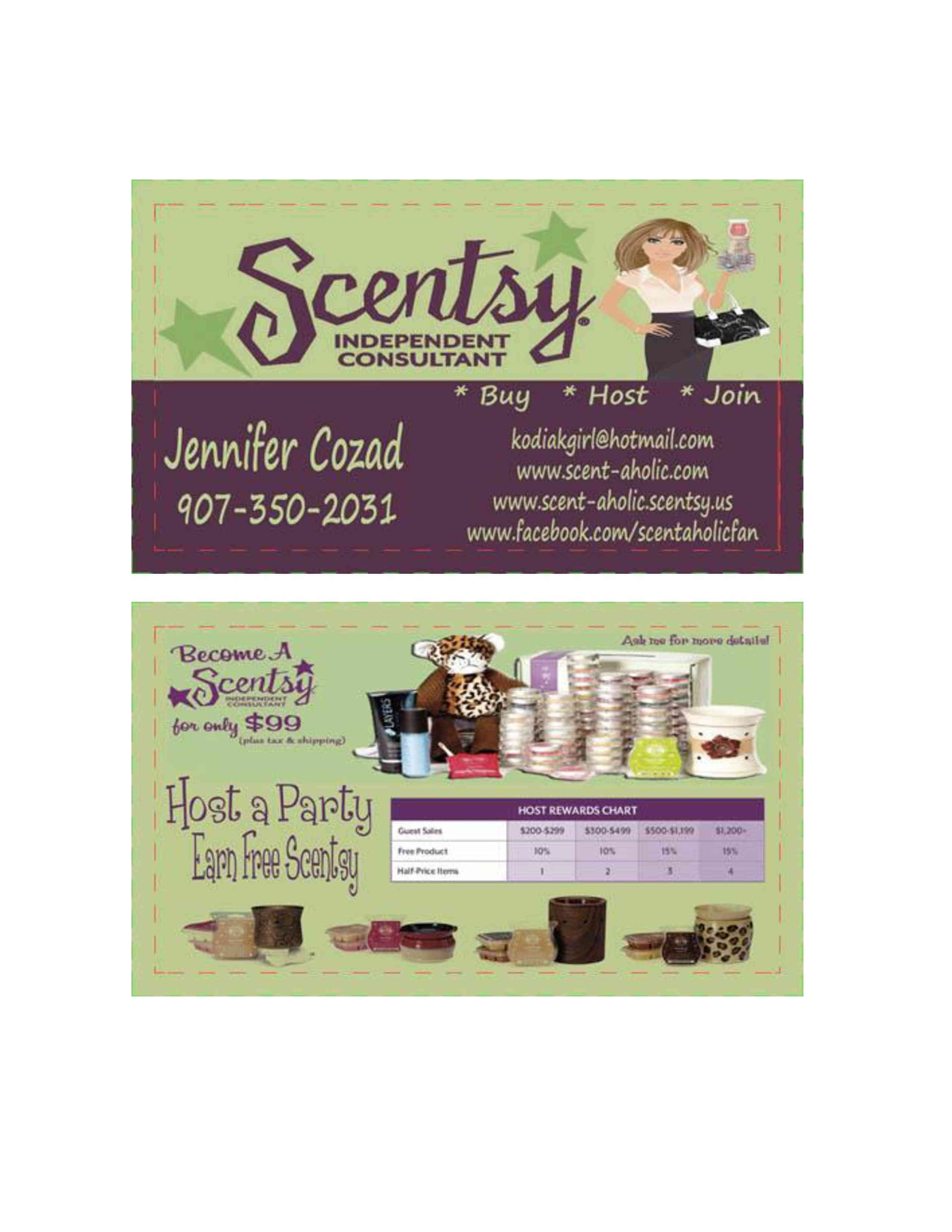 Scentsy Business Cards images