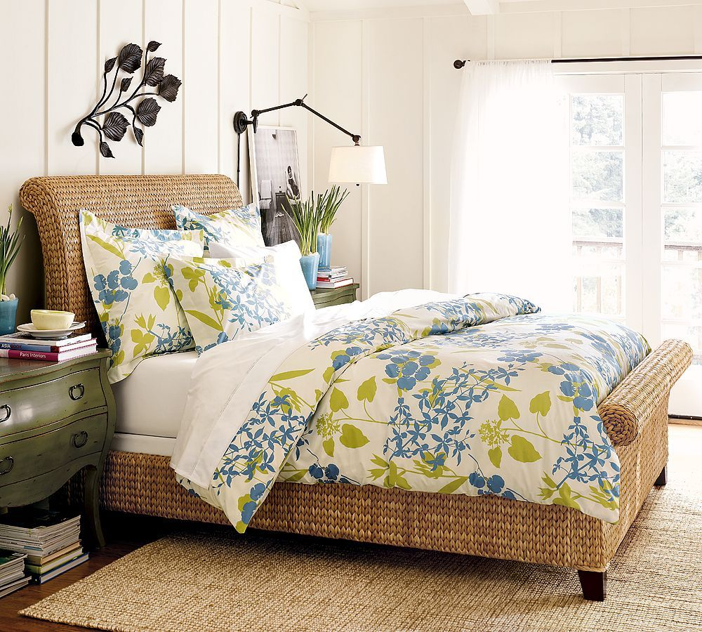 seagrass sleigh bed awesome bedroom ideas pinterest
