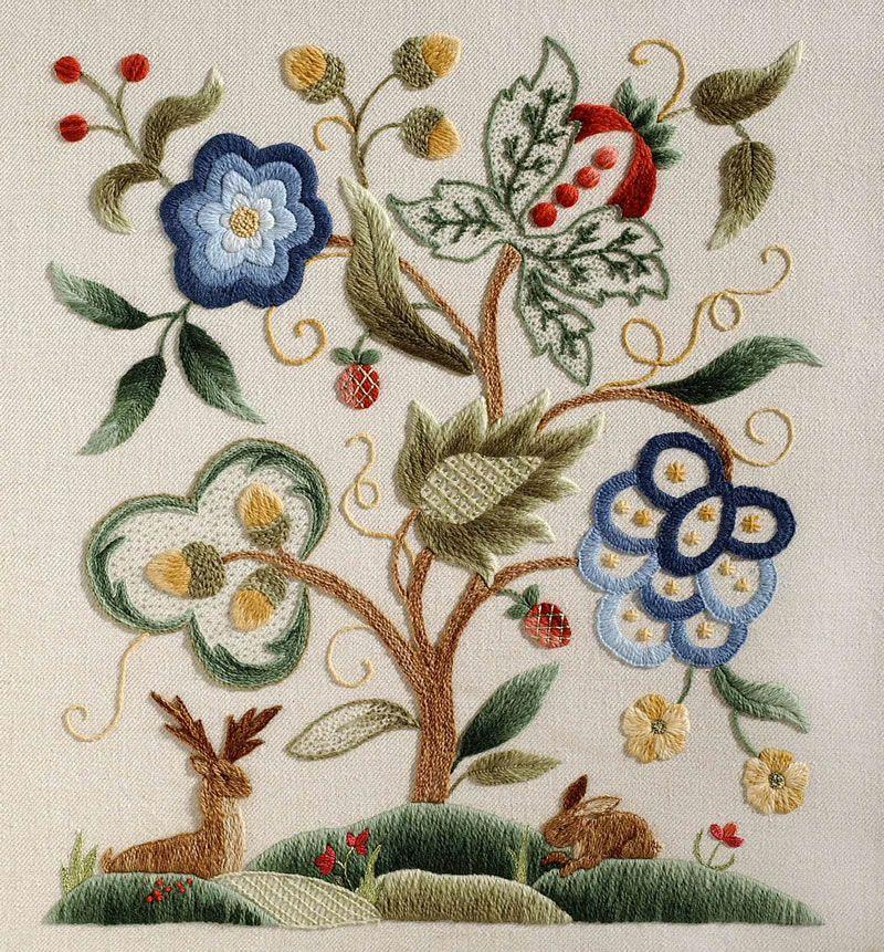 Royal school jacobean pastoral embroidery needlework