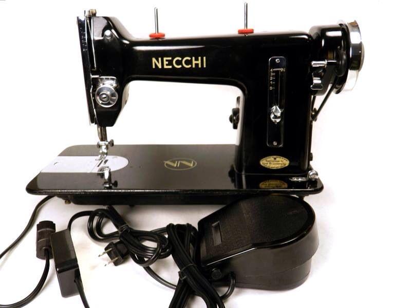 vintage necchi sewing machine
