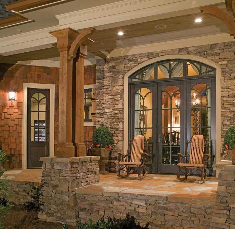 stone porch architecture pinterest