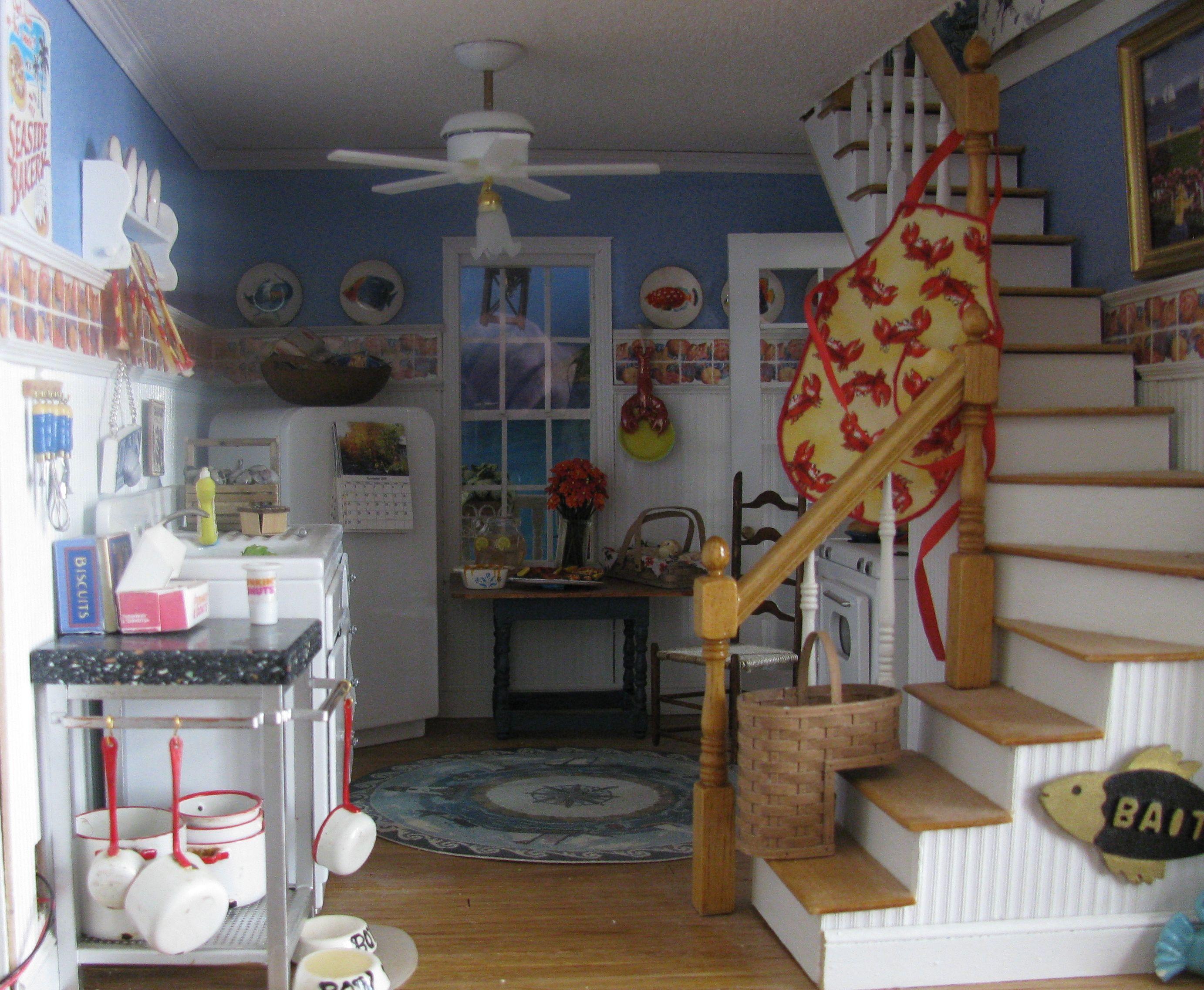 Cape Cod House Kitchen Dollhouse Kitchen Cuisine Pinterest