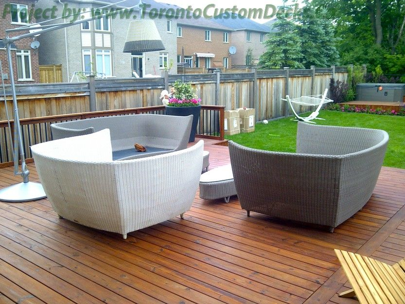 toronto wicker furniture on deck