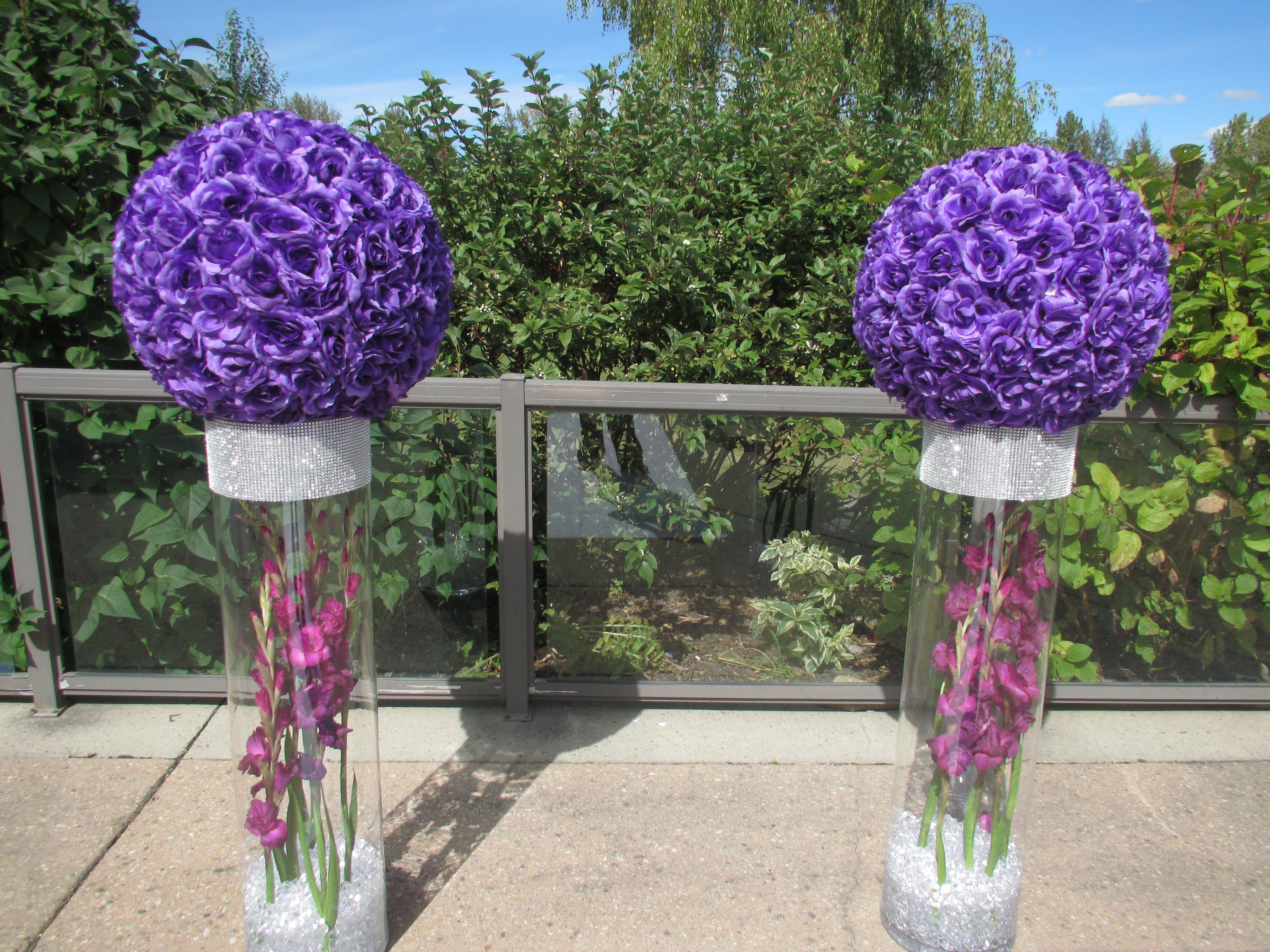 Ceremony Decor Flower Pedestals Wedding Flowers Pinterest