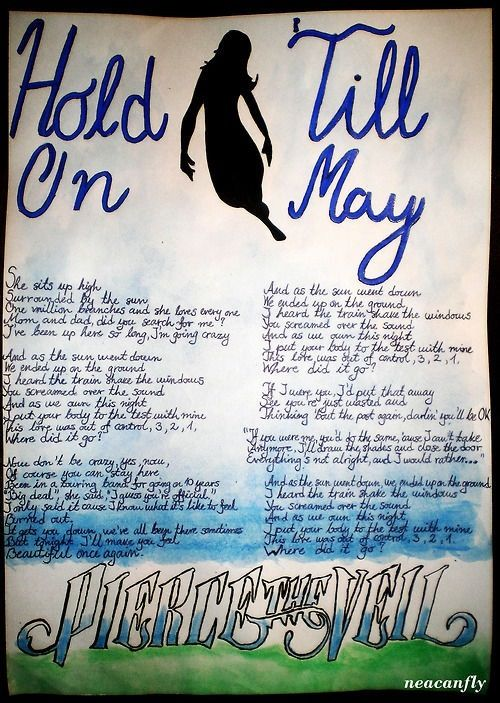 SharePierce The Veil Quotes Hold On Till May