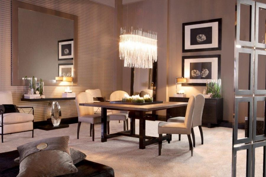Glam contemp 39 dining room dining rooms pinterest for Glam dining room ideas