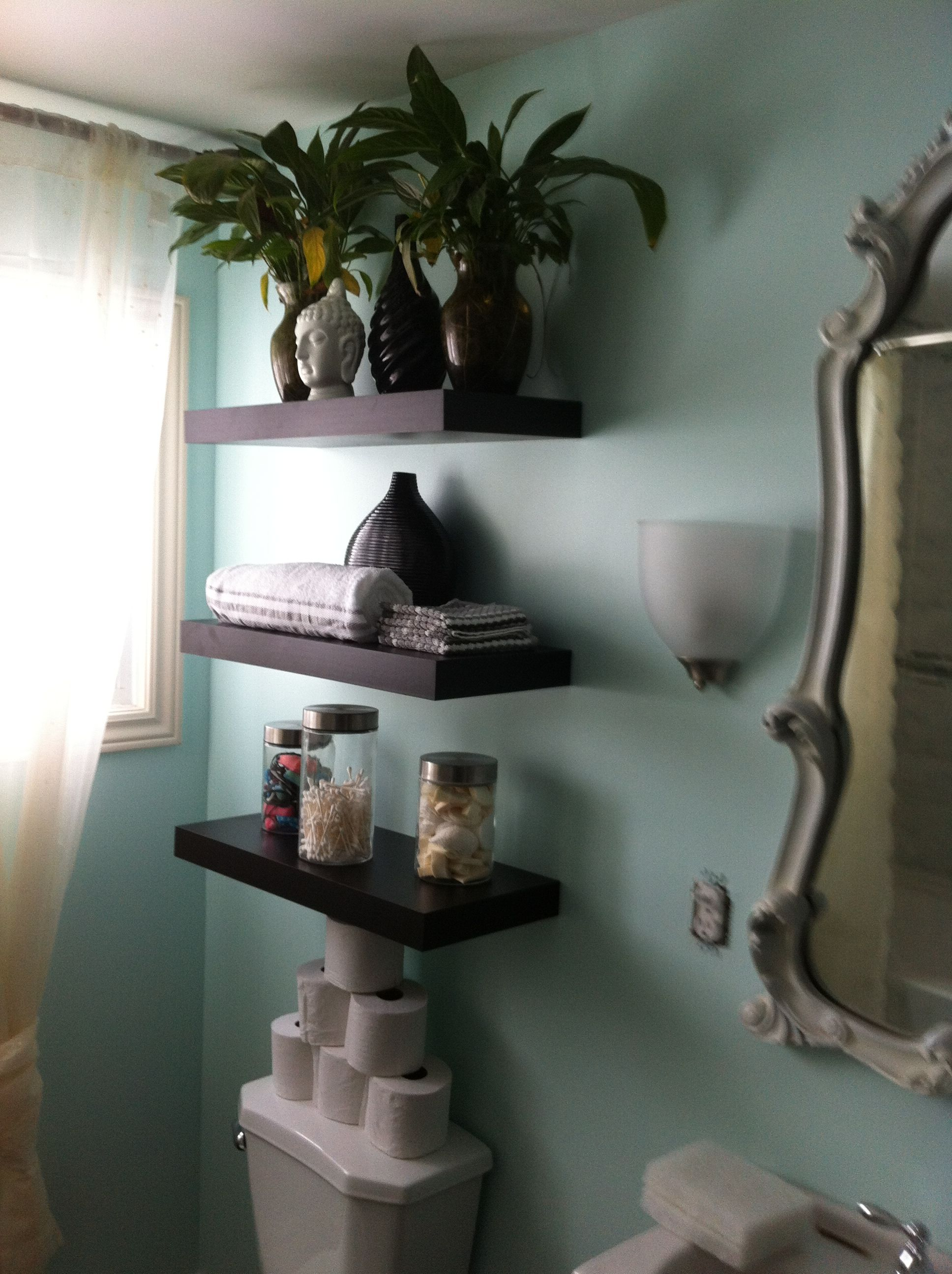 Superb img of Floating Shelves $24.99 each Home Depot Apartment Pinterest with #5B4F40 color and 2592x1936 pixels