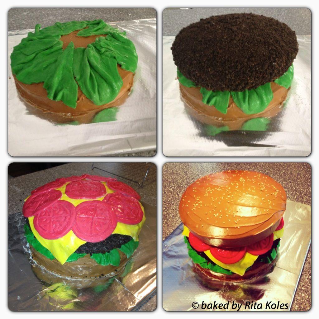 Hamburger Birthday cake  Cakes and Cupcakes  Pinterest
