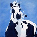 CHARLIE BLUE EYES Oil Paintings