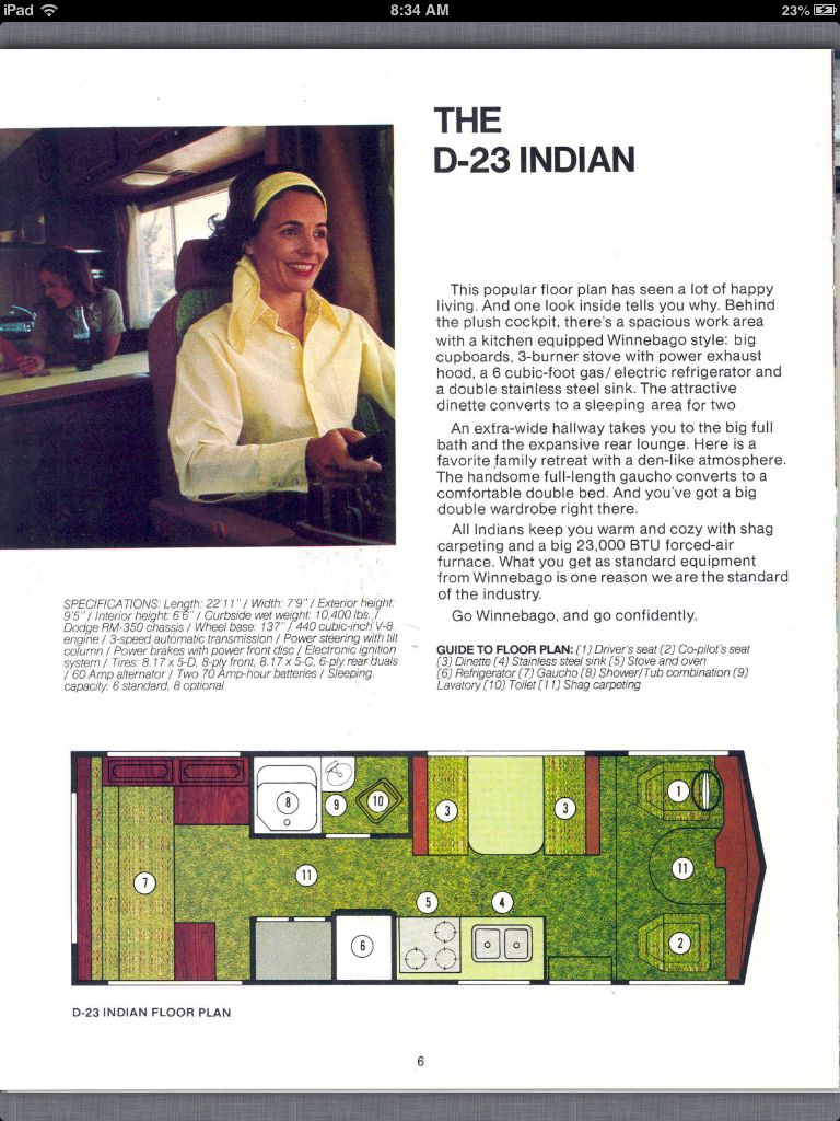1974 winnebago indian d 23 the perfect floor plan bus 1974 winnebago indian d 23 the perfect floor plan