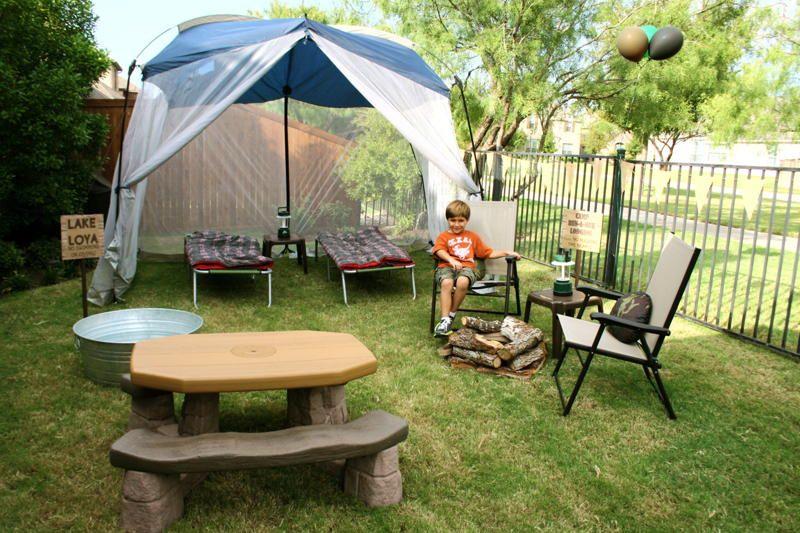 Backyard Camping Tips : Backyard Camping Birthday Cake Ideas and Designs