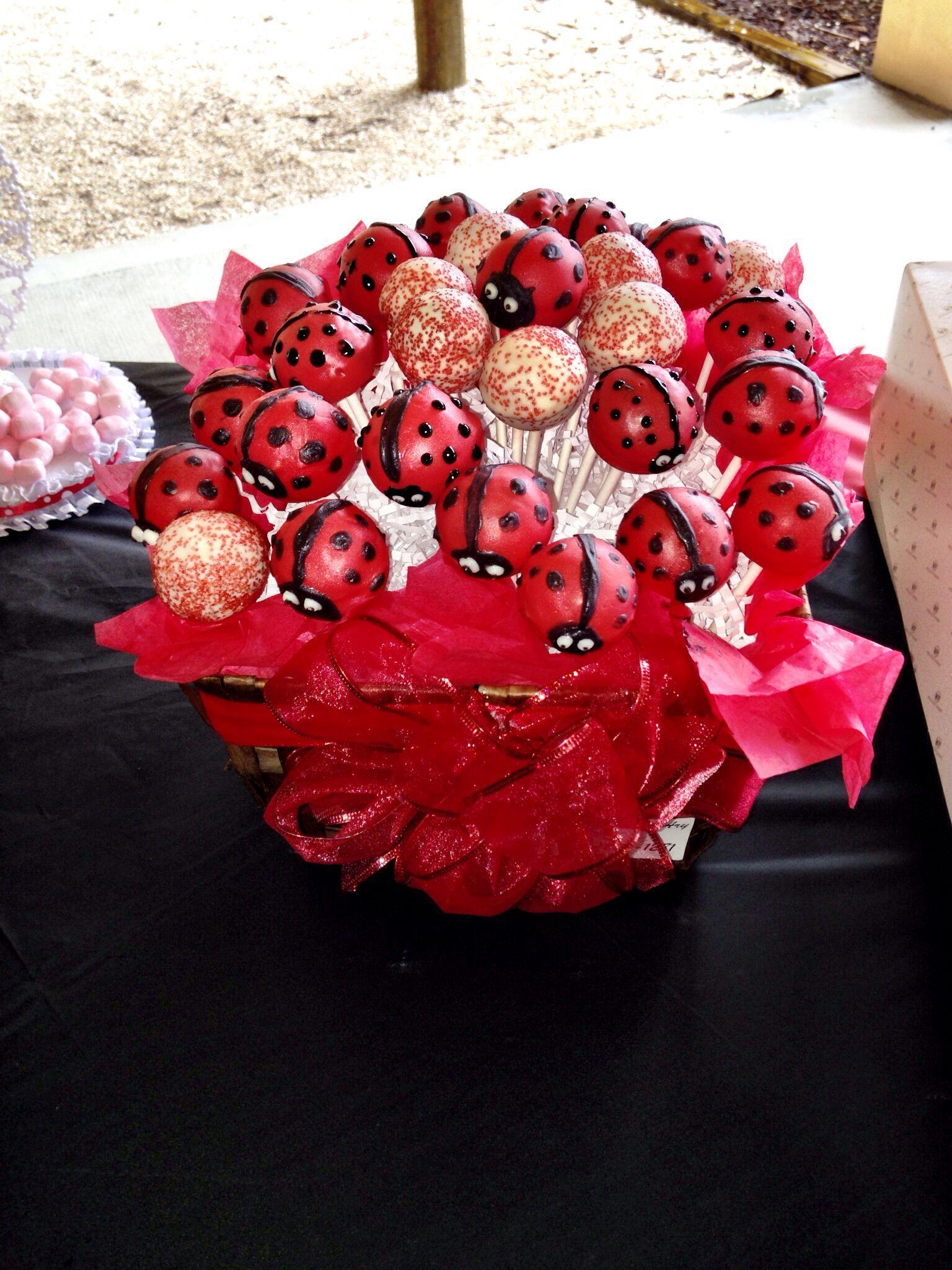 ladybug baby shower cakepops ladybug fancy theme pinterest