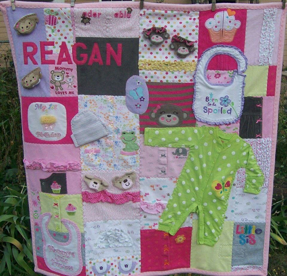 How To Make A Quilt Made Out Of Baby Clothes