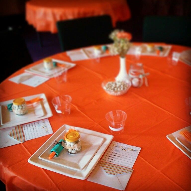 baby shower table settings party ideas pinterest