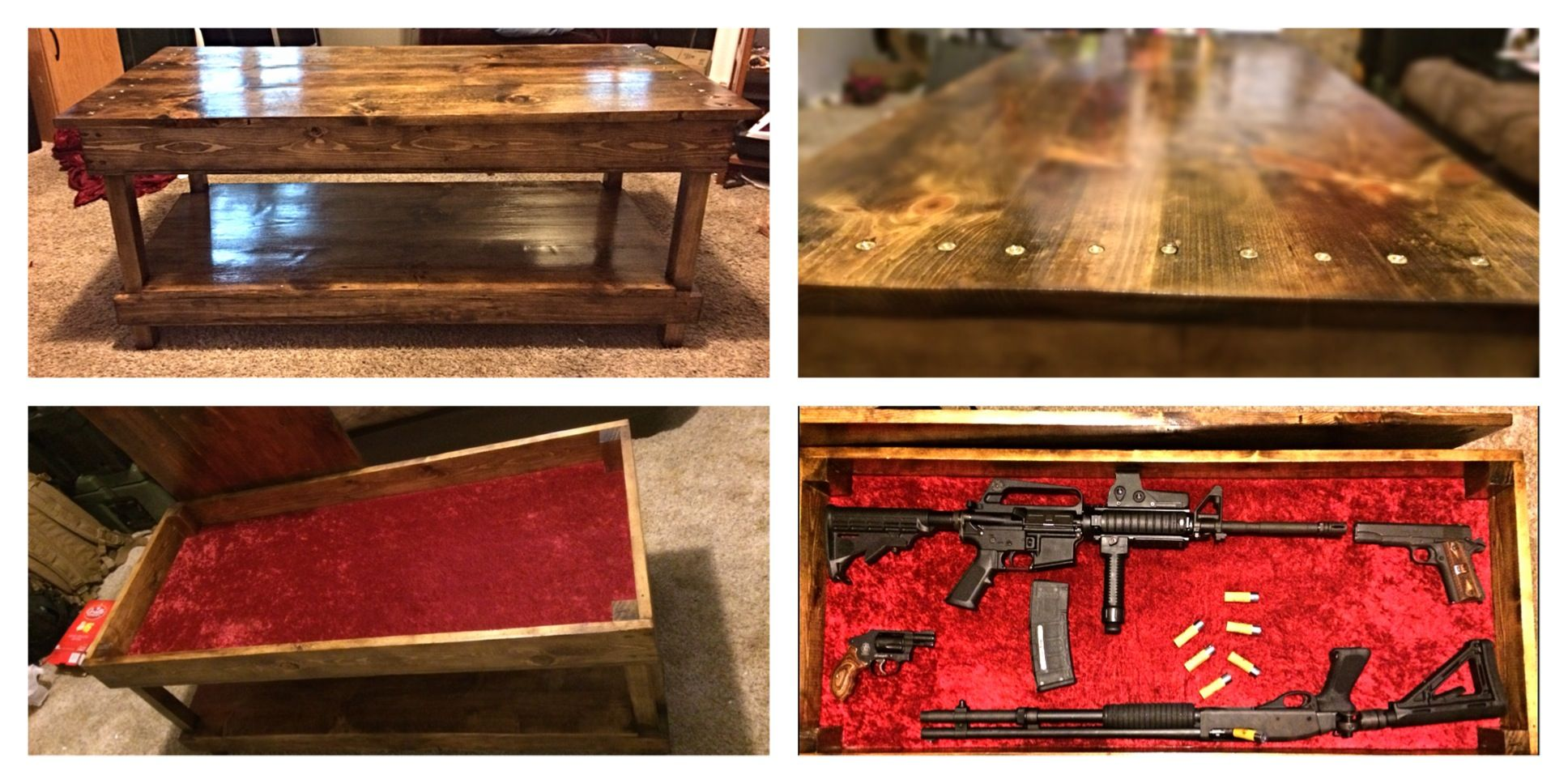 Coffee Table Hidden Gun Storage Hidden Gun Storage