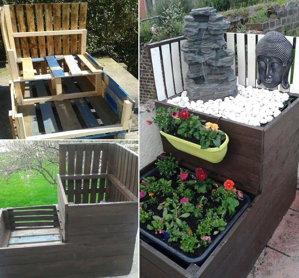 Jardini re creations tout en palettes pinterest - Creation table de jardin en palette ...