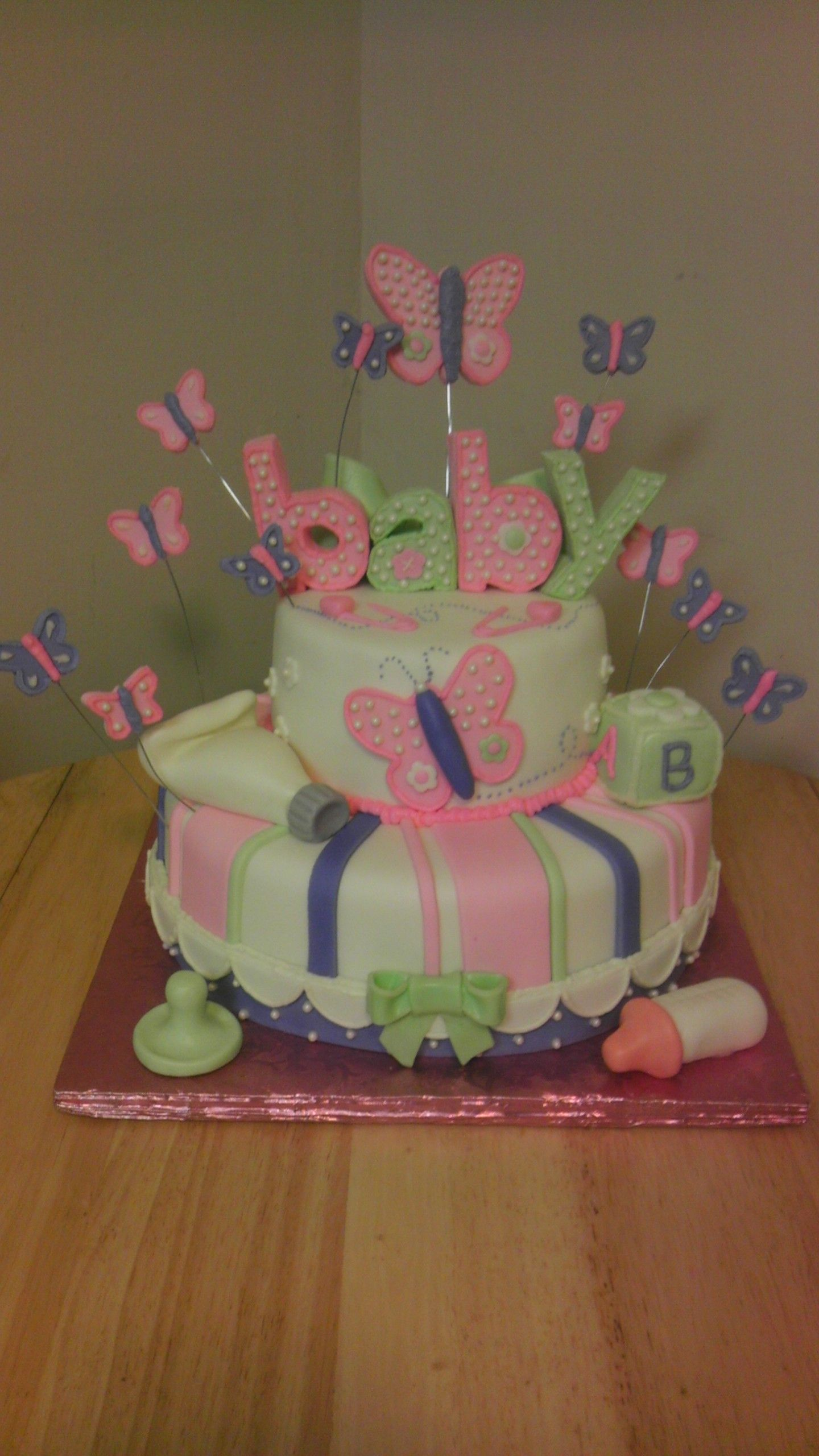 butterfly baby shower cake cakes pinterest