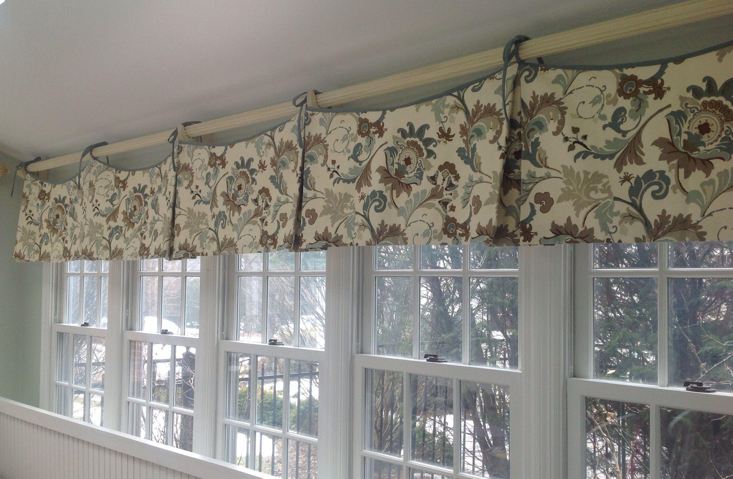 Kitchen box pleat valance installation curtain pinterest - Kitchen curtains pinterest ...