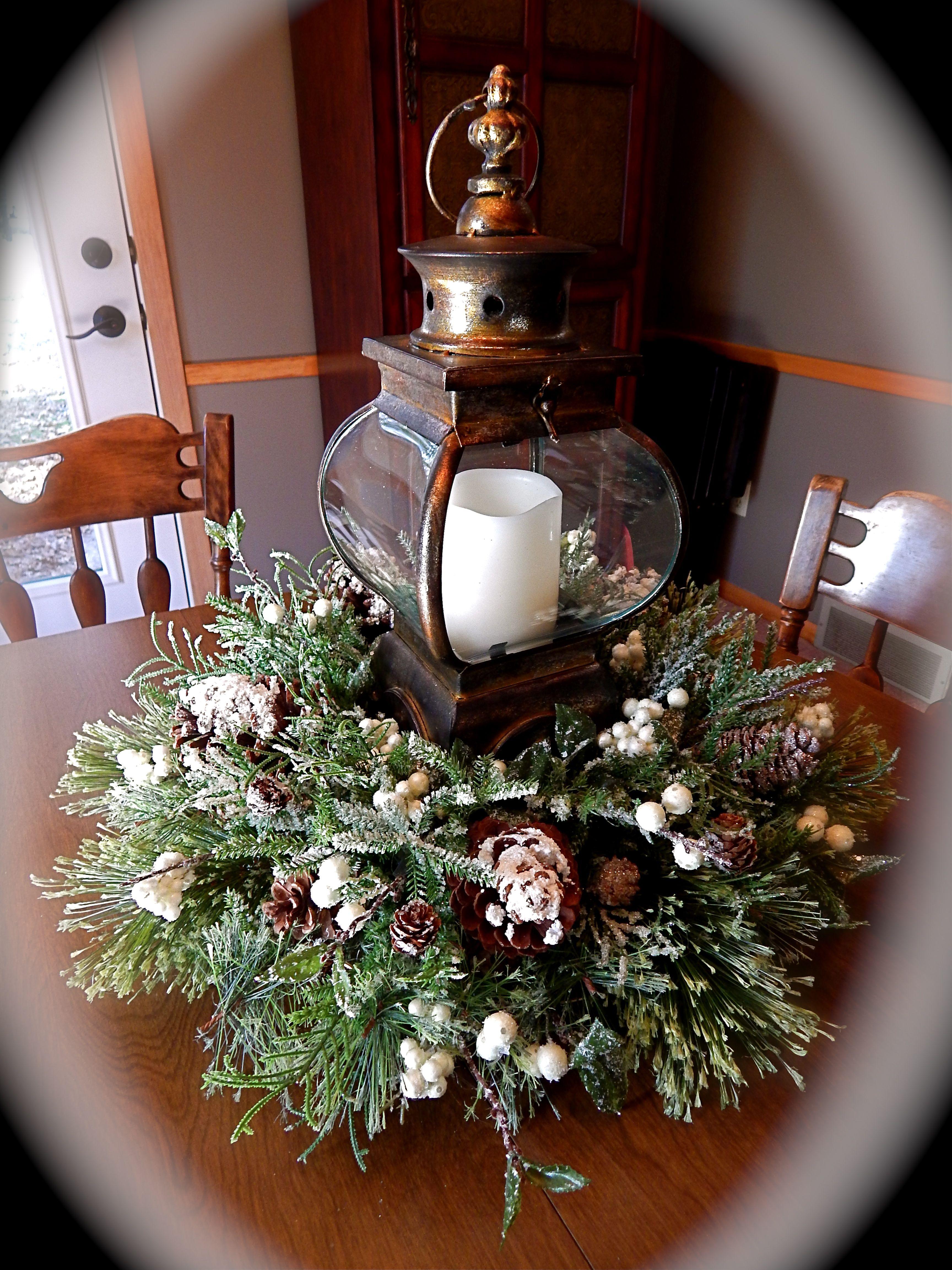 Christmas Lantern Centerpiece Kathie 39 S Lanterns At