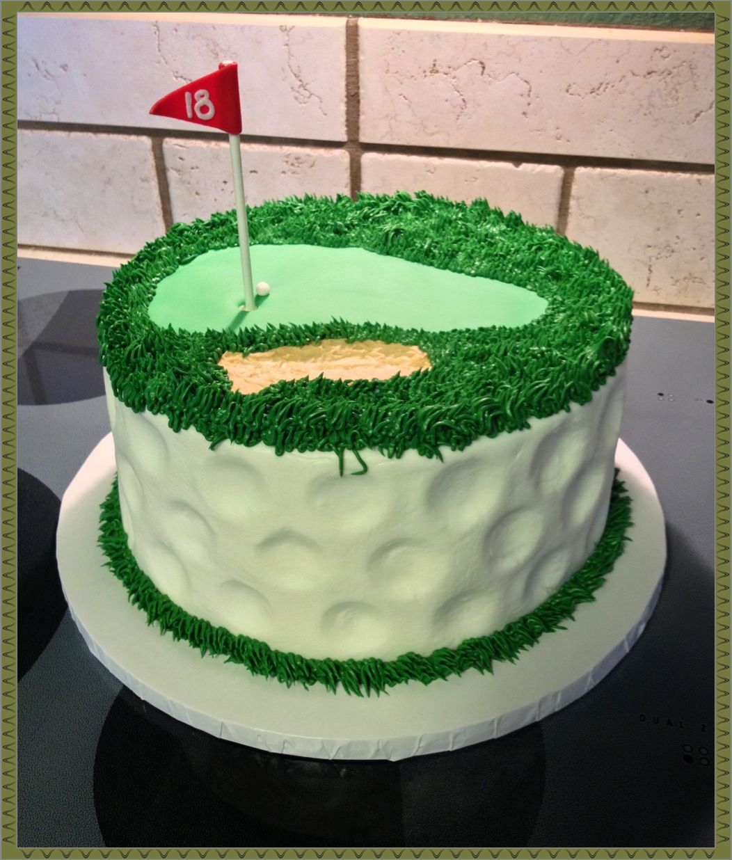 Golf Themed Cake Images : A golf themed layer cake :) themed idea cakes Xmas ...