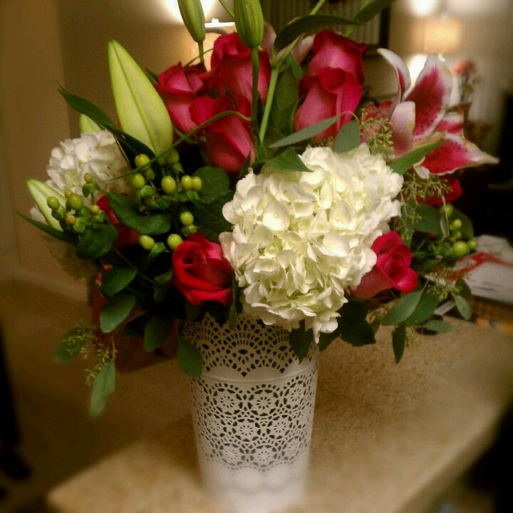 Valentine 39 s day flower arrangement recipes pinterest for Arrangements for valentines day