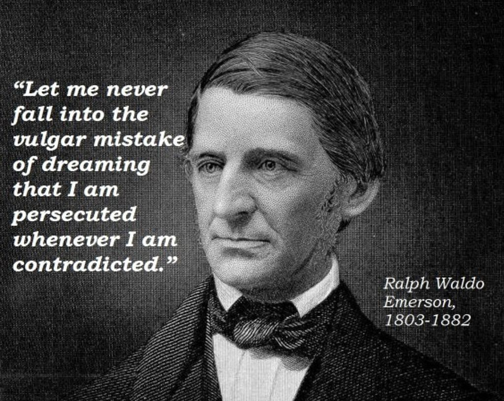 ralph waldo emerson self reliance american Which philosopher(s) beliefs go against ralph waldo emerson's belief of self reliance  and american transcendentalism in general for lacking a theory of evil.