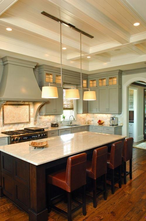 celadon and espresso  Kitchens  Pinterest