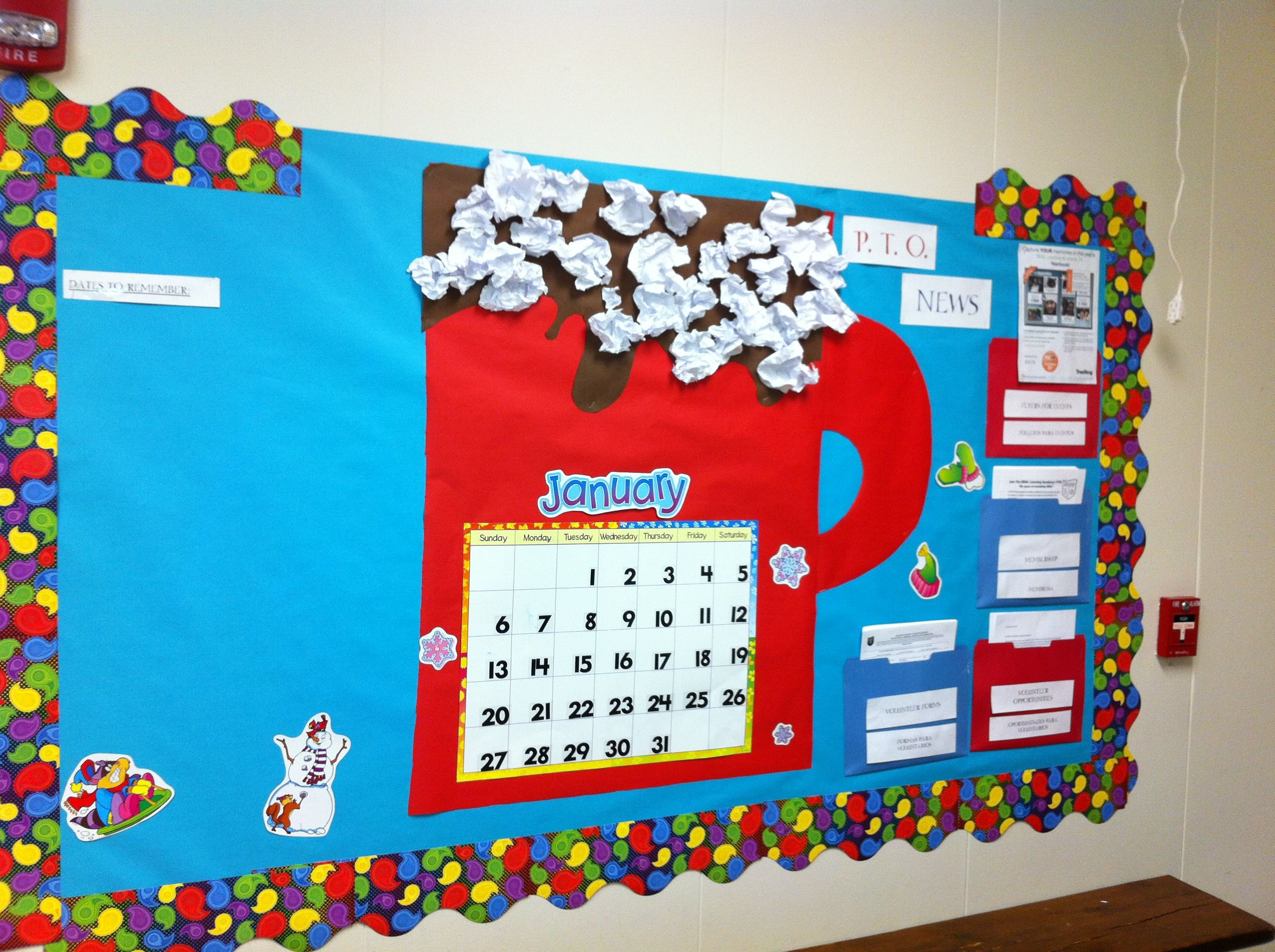 Classroom Ideas For January ~ January bulletin board my classroom pinterest