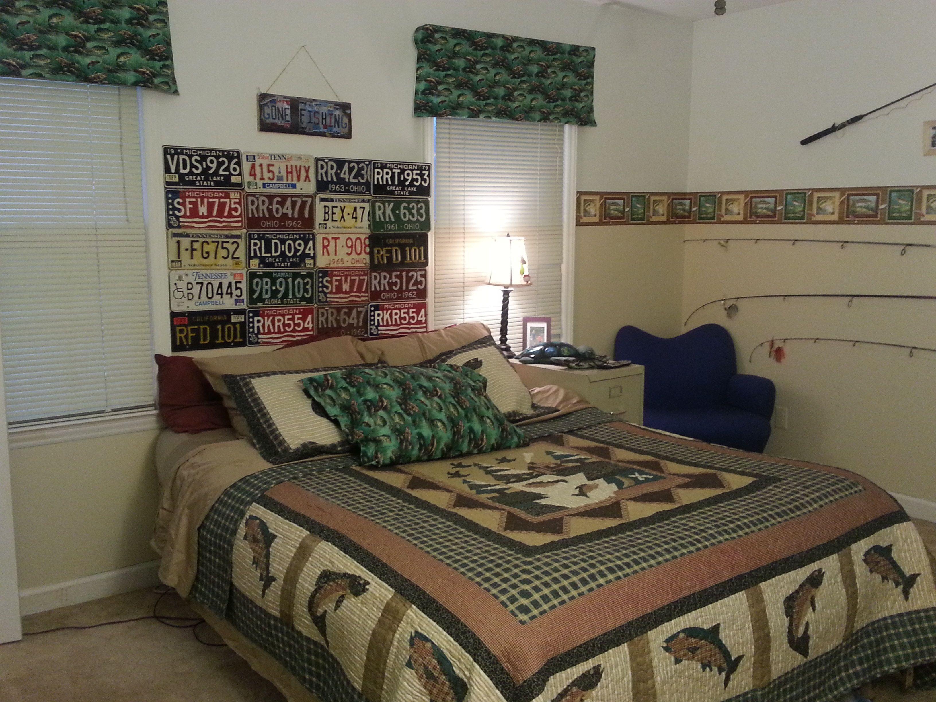 Boys Fishing Themed Bedroom Home Decor Pinterest