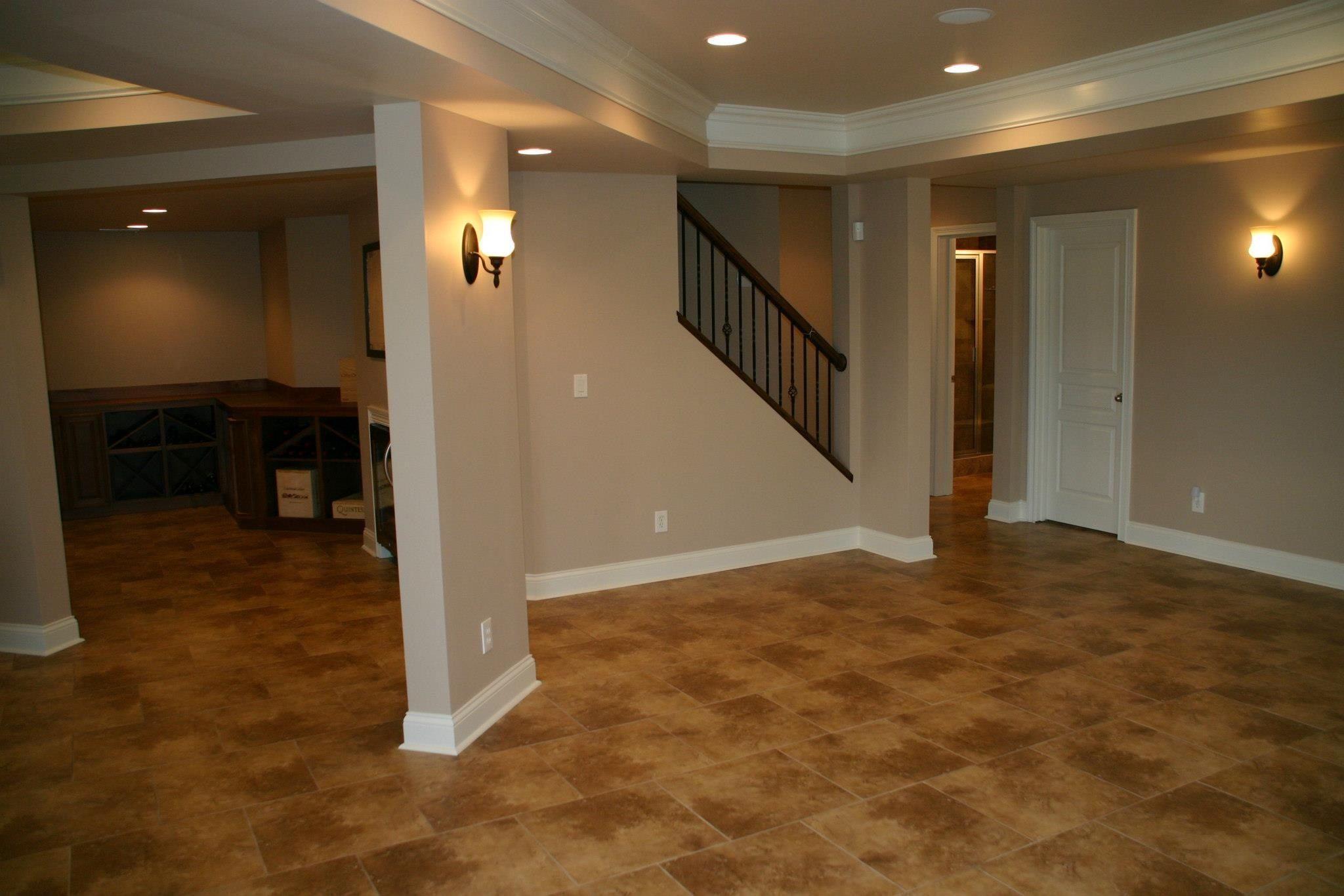 basement stairs tile basements pinterest