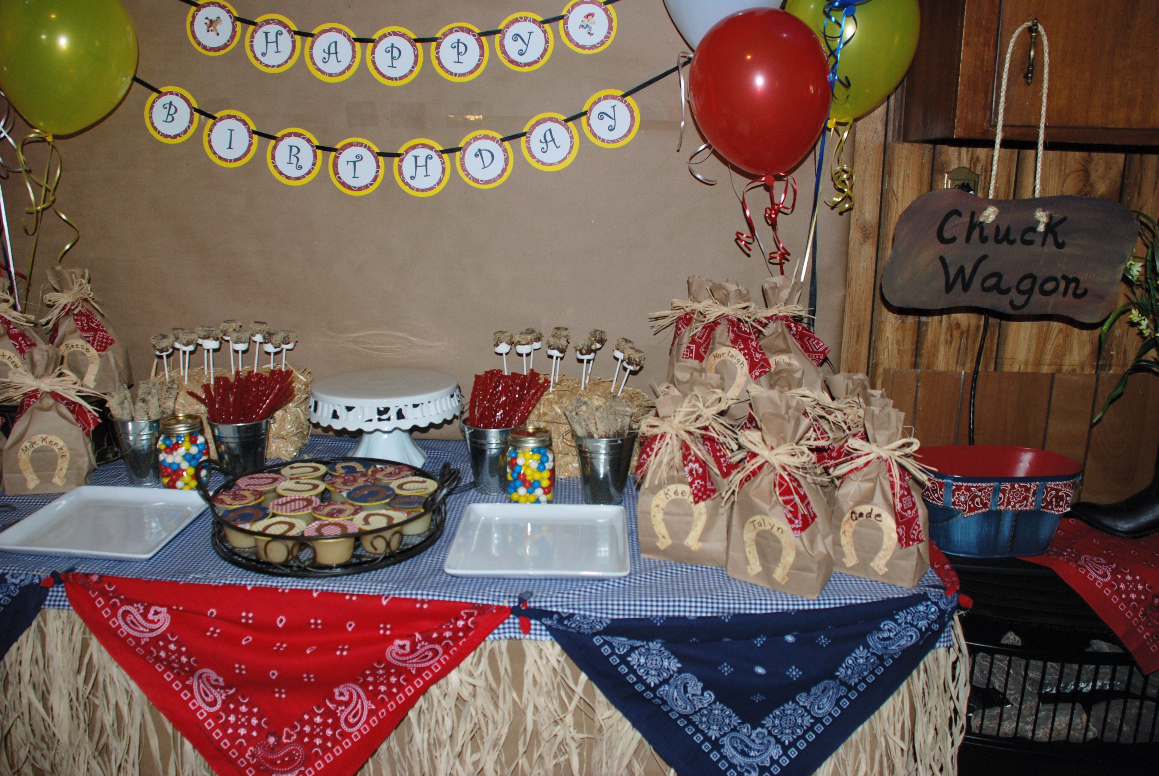 sweet table @ western birthday party | Party Ideas | Pinterest