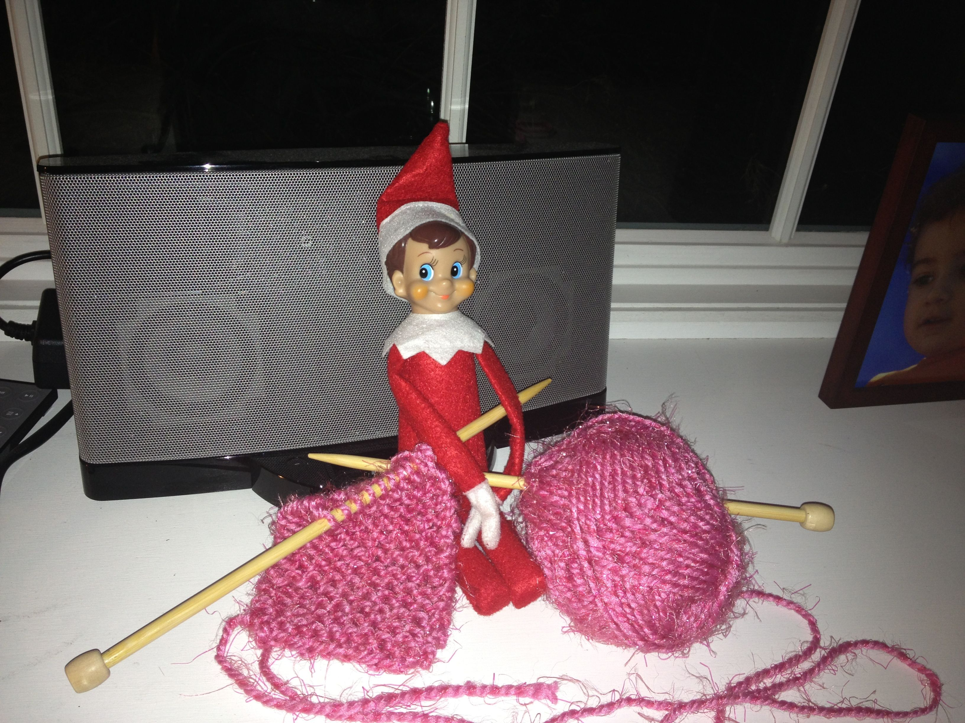 Knitting Elf on the Shelf Elf on the Shelf Fun Pinterest