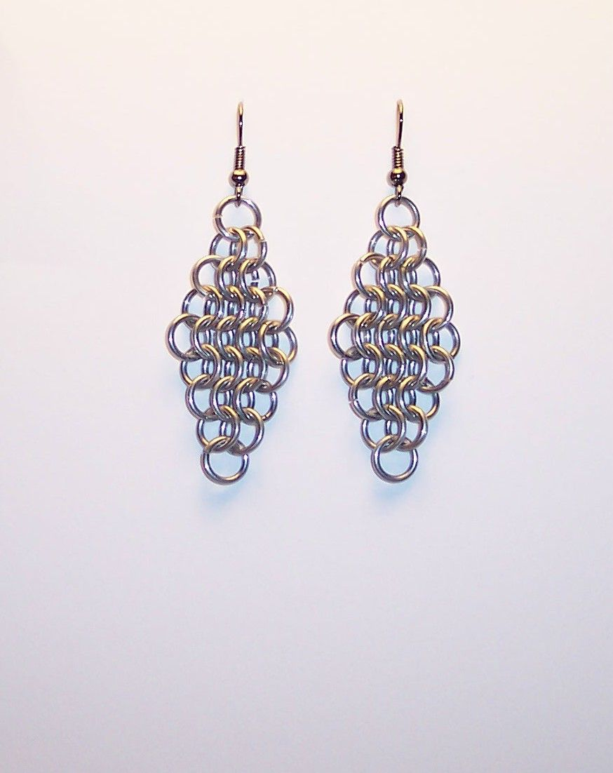 chain maille earrings chain maille