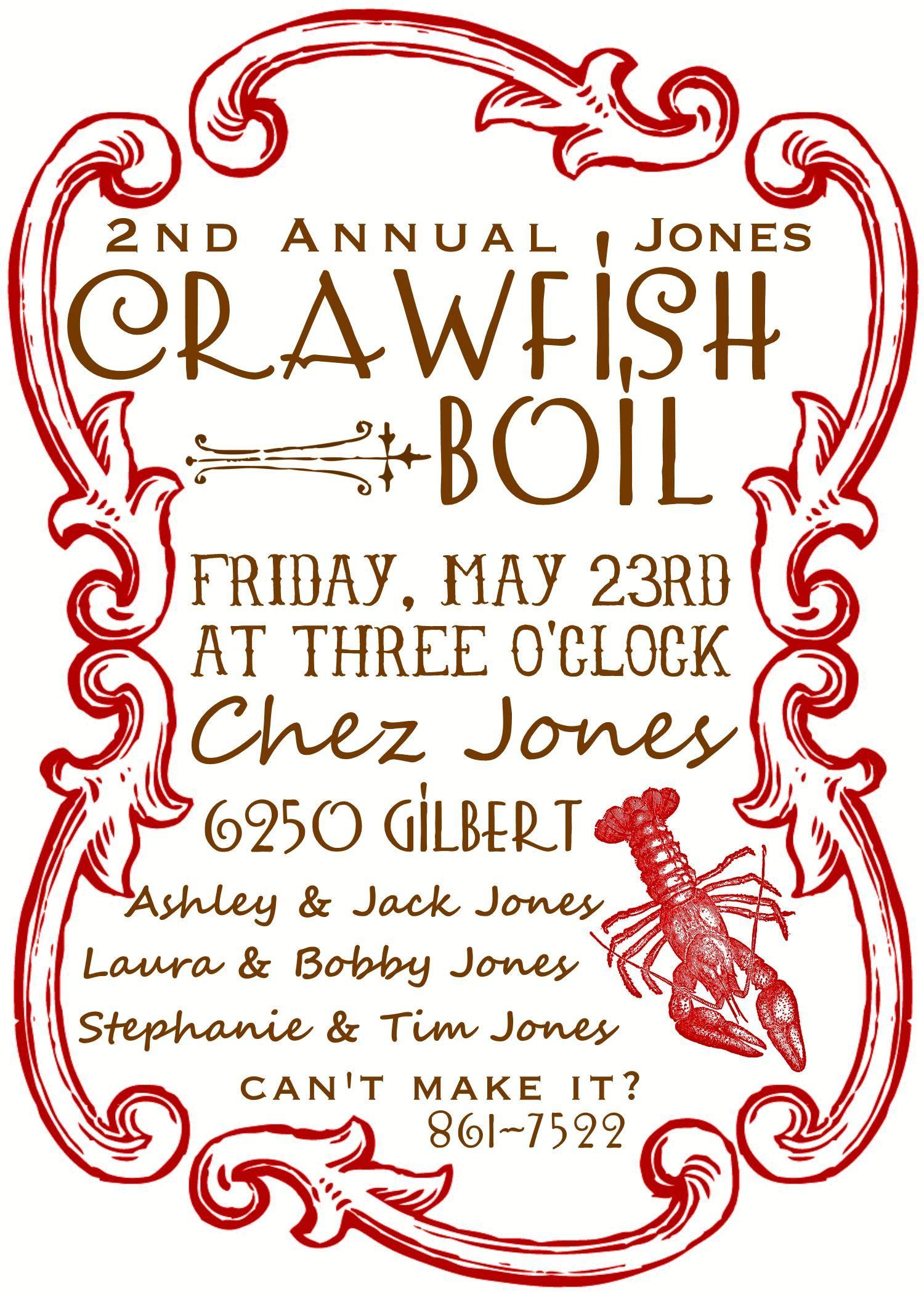 crawfish boil flyer template .