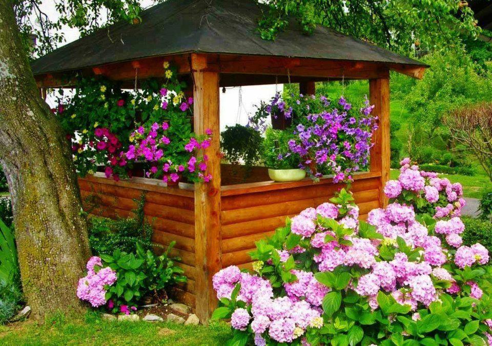 Flower Garden Gazebo : Flower gazebo  Gardens  Pinterest