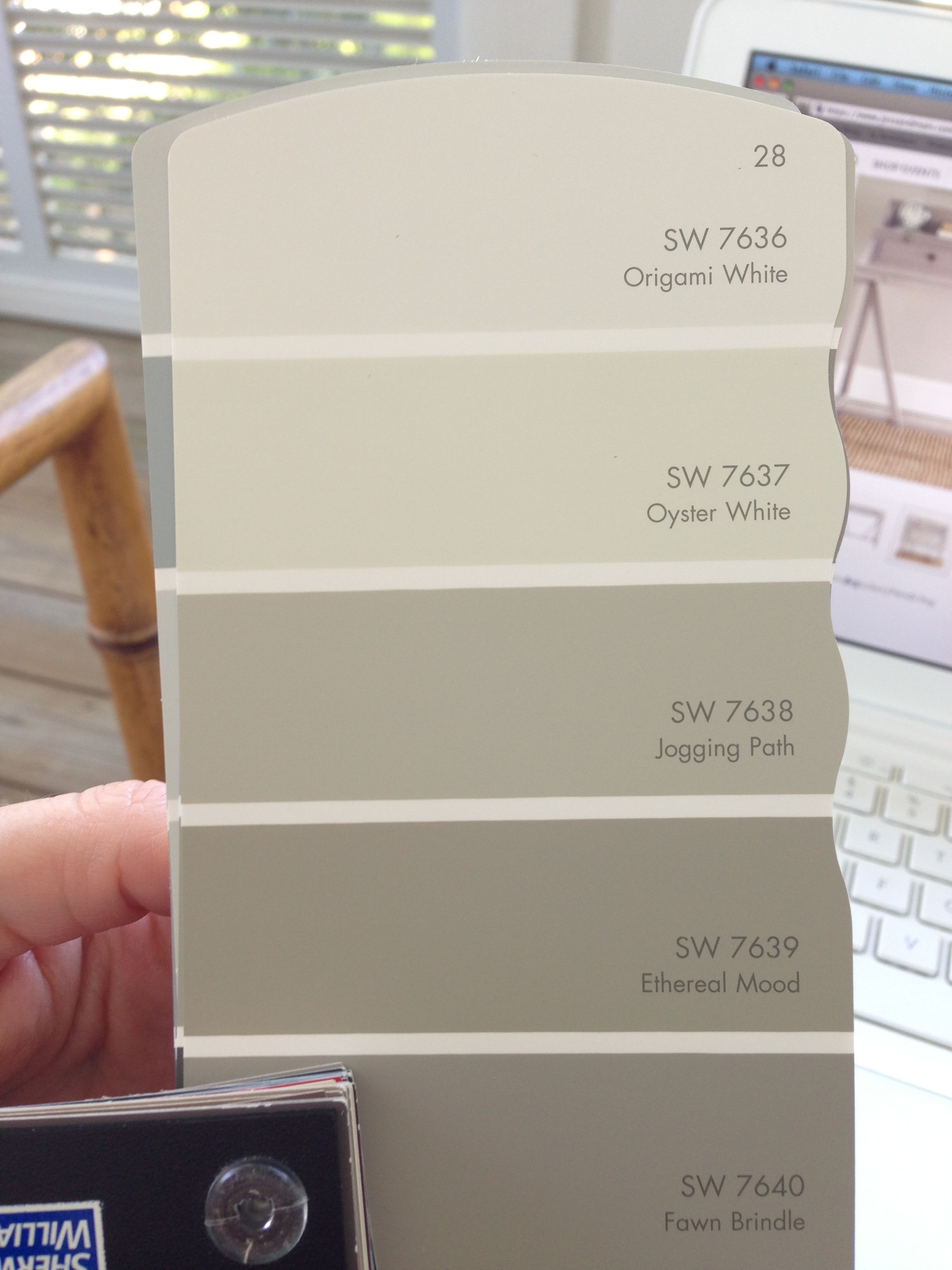 Sw Ethereal Mood Paint Card Oyster White For Brick Jogging Path For Shutters Ethereal Mood For