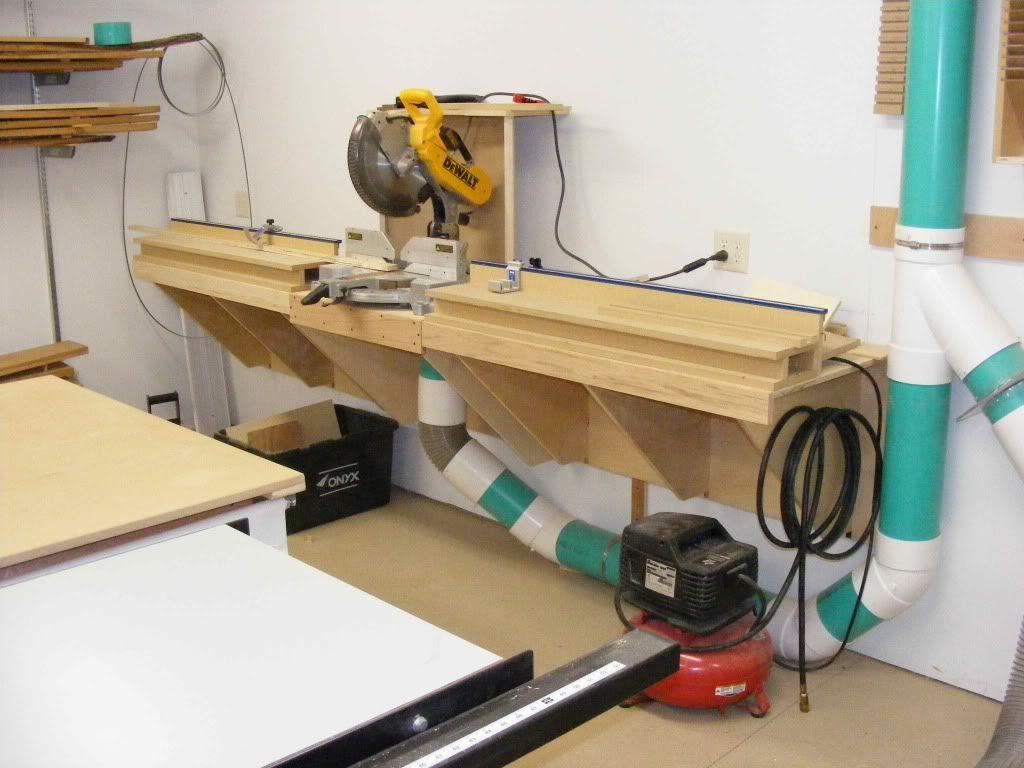 Miter Saw Station Dust Collection Workshop Ideas Pinterest