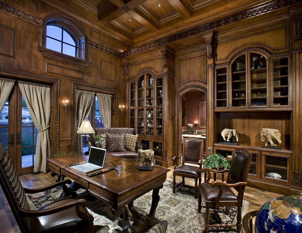 Victorian Style Office Paneled Office | Victo...