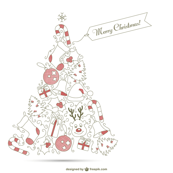 おしゃれ 手書き クリスマス カード クリスマス イラスト